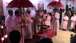 Chicago Knanaya Forane Christmas Mass Procession 2015.