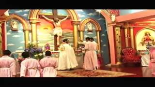 Easter Service at Sacred Heart Chruch by Fr. Saji Pinarkayikl 2012.