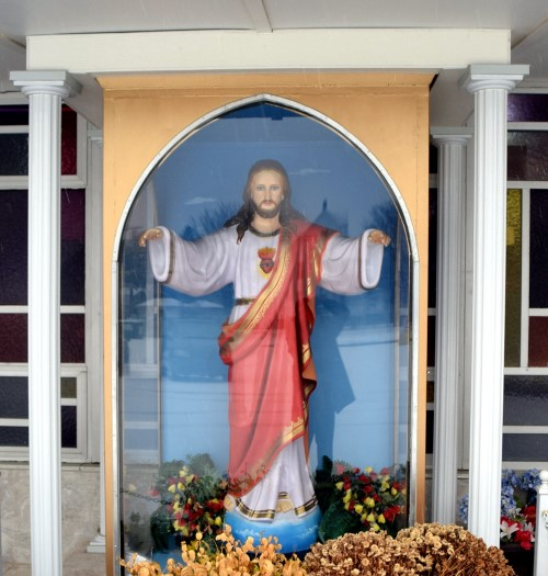 Sacred Heart Shrine outside